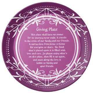 Elegant Purple Plum Giving or Pass it Along Plate
