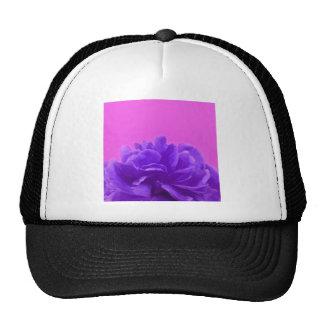 Elegant Purple Raspberry Floral Cap