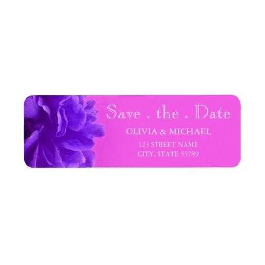 Elegant Purple Raspberry Floral Save The Date Return Address Label