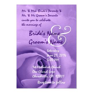 Elegant PURPLE Rose Wedding Invitation