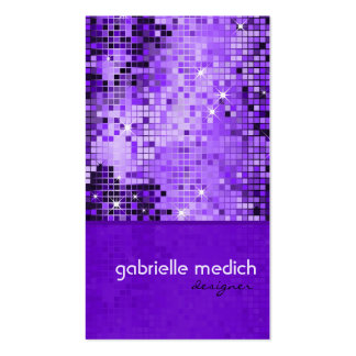 Elegant Purple Sequence Glitter Pattern Pack Of Standard Business Cards