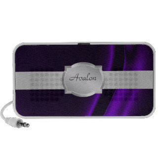 Elegant Purple Silk Name Portable Speaker