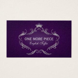 Elegant Purple & Silver Crown Frame