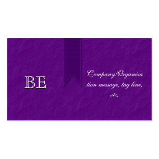 Elegant Purple Support Ribbon Business Cards
