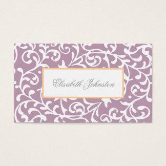 Elegant Purple Swirls Damask Feminine Floral