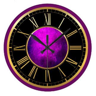 Elegant purple texture wall clock