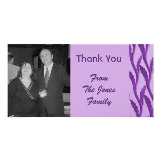 elegant purple Thank You Photo Cards