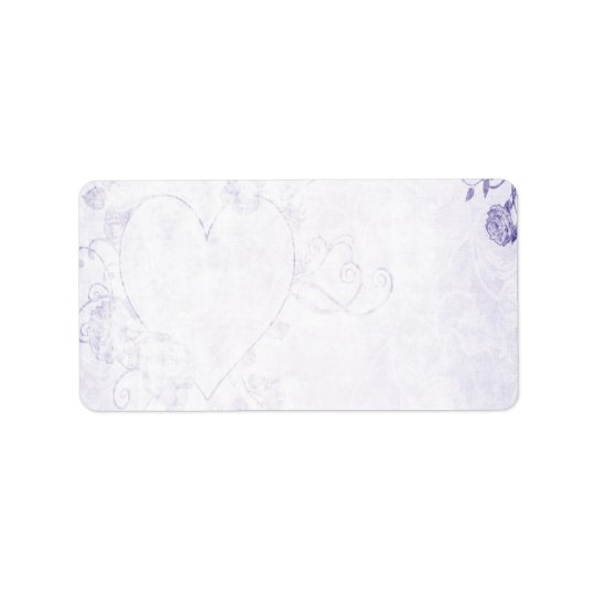 Elegant Purple Vintage Wedding Address Label
