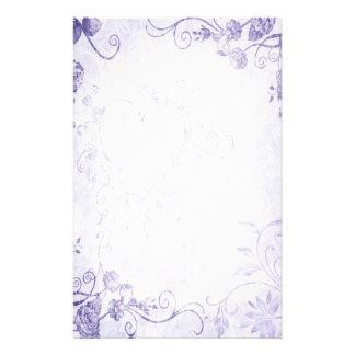 Elegant Purple Vintage Wedding Stationery