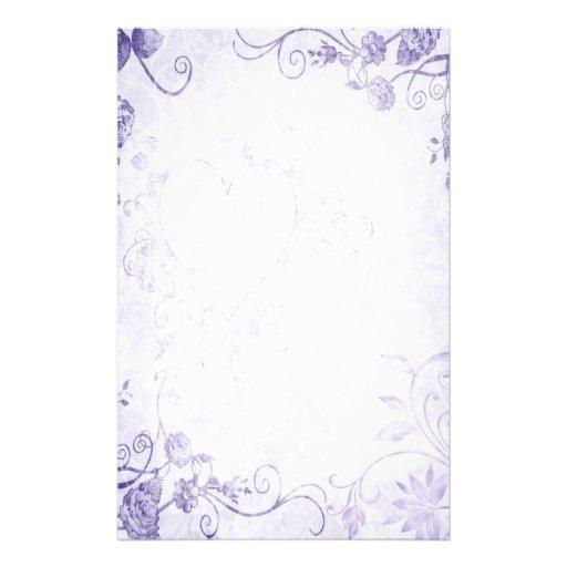 Elegant Purple Vintage Wedding Personalized Stationery