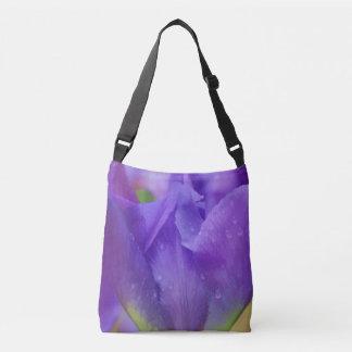 Elegant Purple Watercolor Tulip Photograph Easter Crossbody Bag