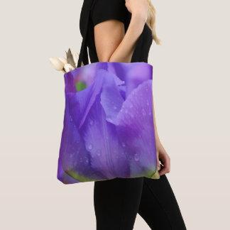 Elegant Purple Watercolor Tulip Photograph Easter Tote Bag