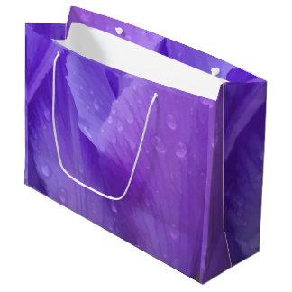 Elegant Purple Watercolor Tulip Photograph Large Gift Bag