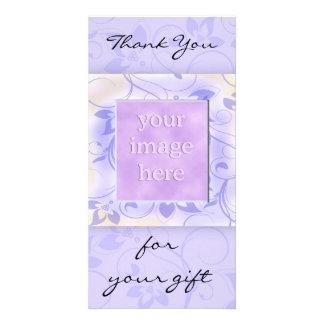 Elegant Purple Wedding Thank You Card