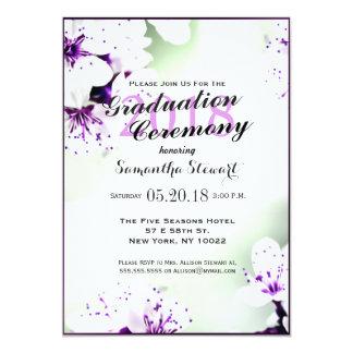Elegant Purple & White Lilies on Soft Green 13 Cm X 18 Cm Invitation Card