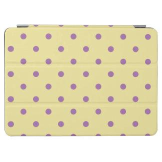 elegant purple yellow polka dots iPad air cover
