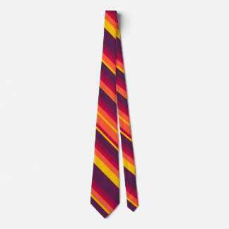 Elegant Purple-Yellow Tie