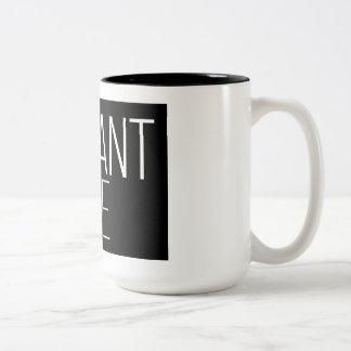 Elegant Rae Black 15 oz Two-Tone Mug