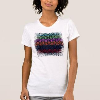 Elegant Rainbow Colorful Damask Fading Colors Tee Shirt