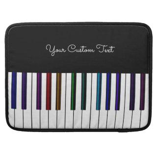 Elegant Rainbow Piano Music Personalized Sleeve For MacBook Pro