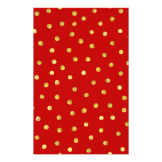 Elegant Red And Gold Foil Confetti Dots Pattern Flyer