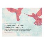 Elegant Red Bird Wedding Invitations