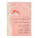 Elegant Red Birds Bridal Shower Invitations