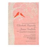 Elegant Red Birds Wedding Invitations