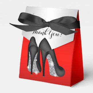 Elegant Red Black High Heel Shoe Favour Boxes
