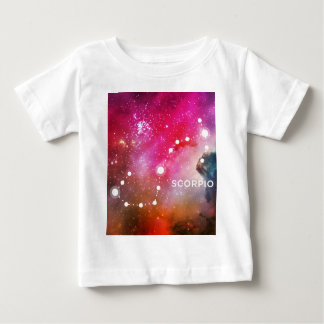 ELEGANT RED BLUE WATERCOLOR UNIVERSE - SCORPIO BABY T-Shirt
