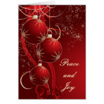 Elegant Red Christmas Greeting Card