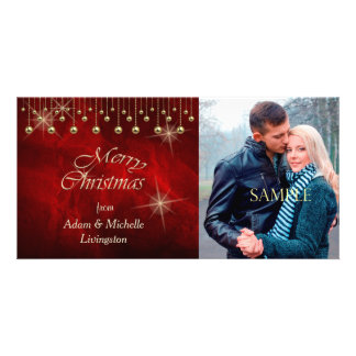 Elegant Red Christmas Picture Card