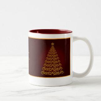 Elegant  Red Christmas Tree Mug
