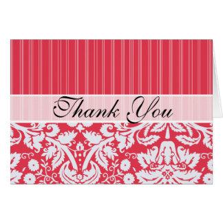 Elegant Red Damask Card