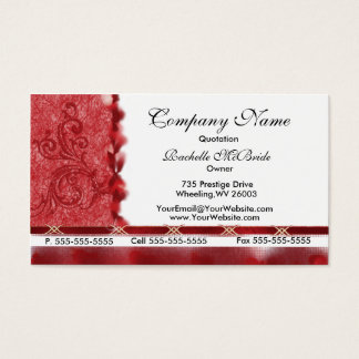 Elegant Red Embroidery Design Business Cards