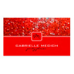 Elegant Red Glitter Party Planner Business Card