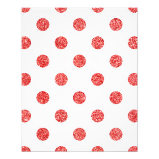 Elegant Red Glitter Polka Dots Pattern 11.5 Cm X 14 Cm Flyer