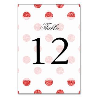 Elegant Red Glitter Polka Dots Pattern Card