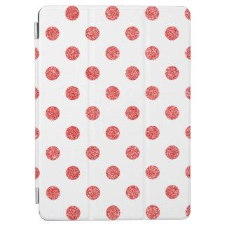 Elegant Red Glitter Polka Dots Pattern iPad Air Cover