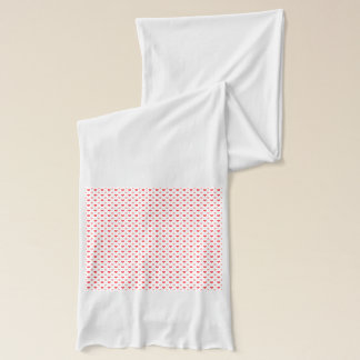 elegant red hearts and pink polka dots pattern scarf