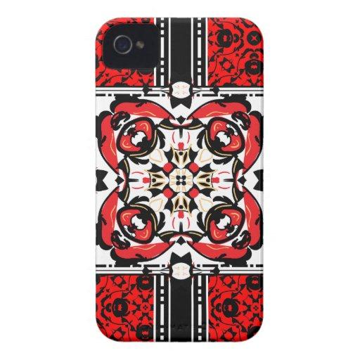 Elegant Red Oriental BlackBerry Bold Casemate Case iPhone 4 Case