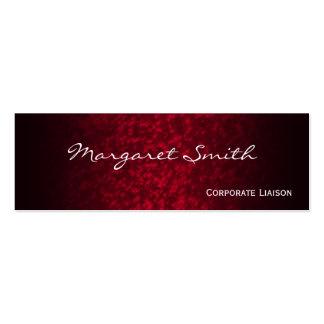 Elegant Red Professional Slim Business Cards