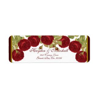 Elegant Red Rose Address Labels