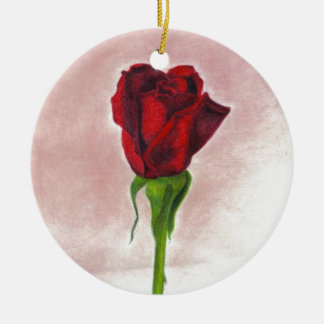 Elegant Red Rose by CricketDiane Ornament