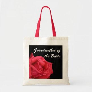 Elegant Red Rose Grandmother of the Bride Gift Bag