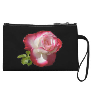 Elegant Red Rose, Mini Clutch Wristlet Purse