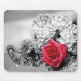 Elegant Red Rose Mouse Pad
