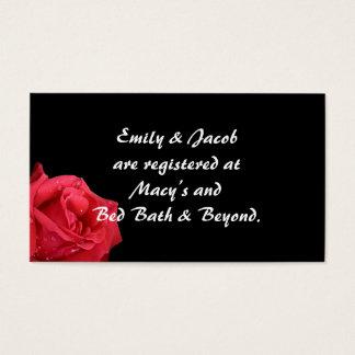 Elegant Red Rose Registry Insert Cards