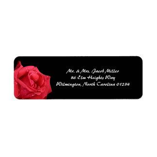 Elegant Red Rose Return Address Labels