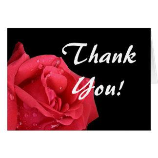 Elegant Red Rose Thank You Cards